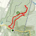 Sunset Rock Trail   New York | Alltrails In Taconic State Park Trail Map