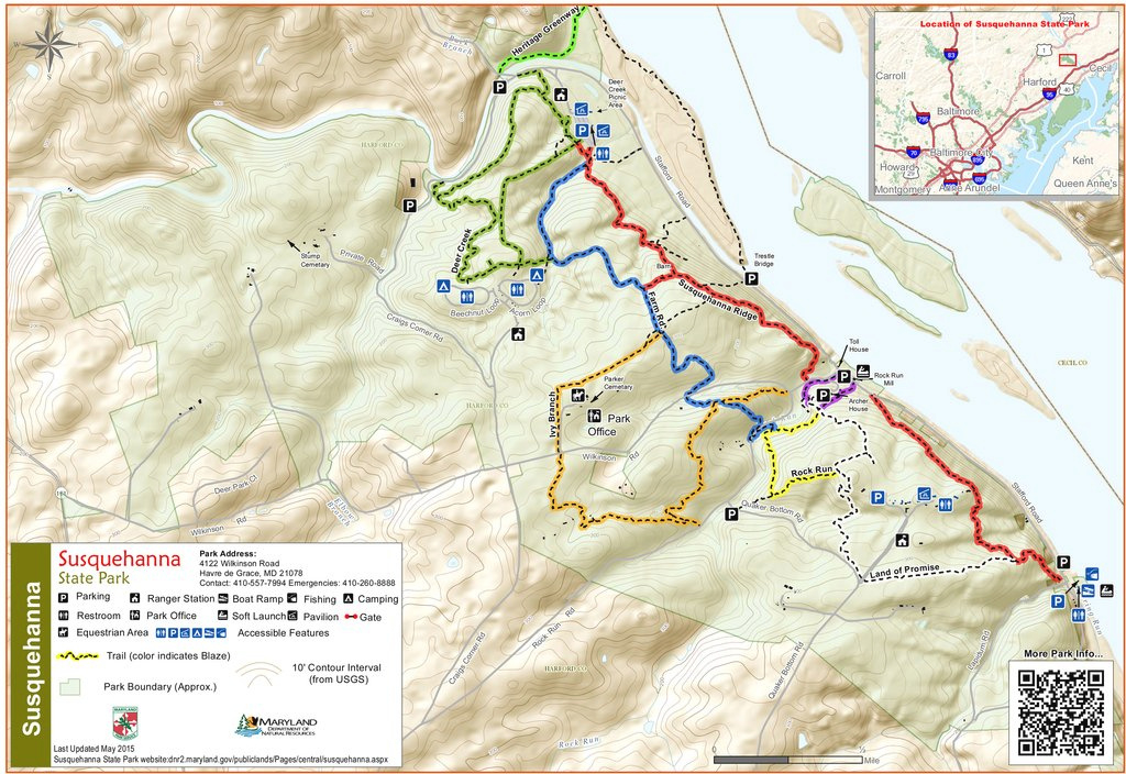 Susquehanna State Park - Maplets with regard to Susquehanna State Park Camping Map