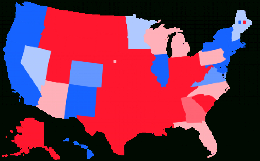 Swing State - Wikipedia in Map Of States Trump Won