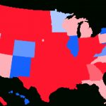 Swing State   Wikipedia Inside Map Of Red States And Blue States 2016