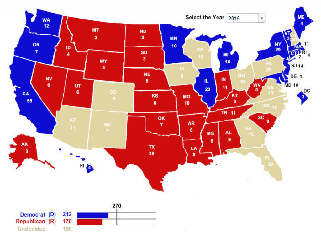 Swing States To Watch In The 2016 Election intended for Map Of Red States And Blue States 2016