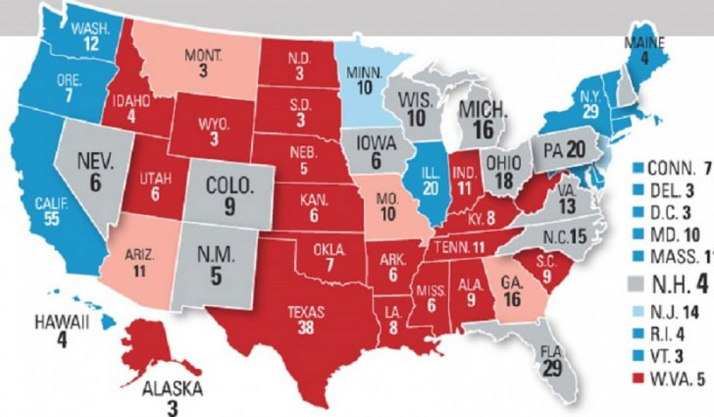 Swing States With The Most Electoral Votes In The 2016 U.s. inside 2016 Electoral Map By State