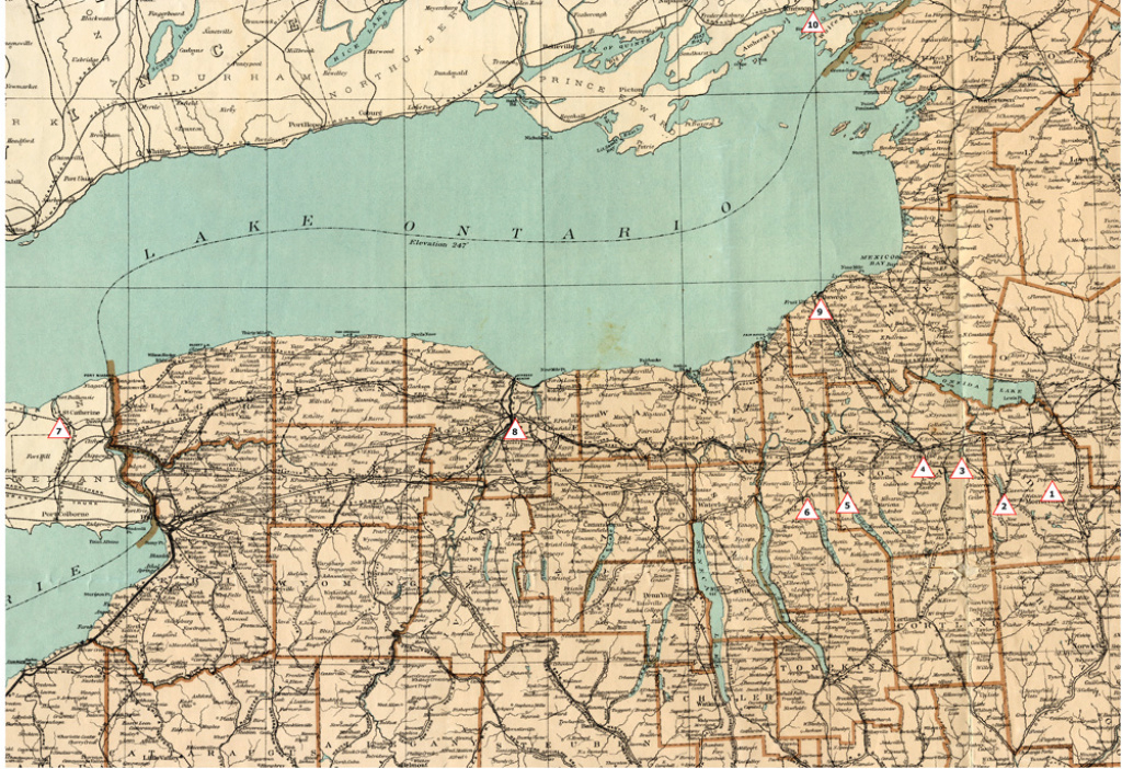Syracuse And The Underground Railroad - Syracuse University Libraries for New York State Atlas Map
