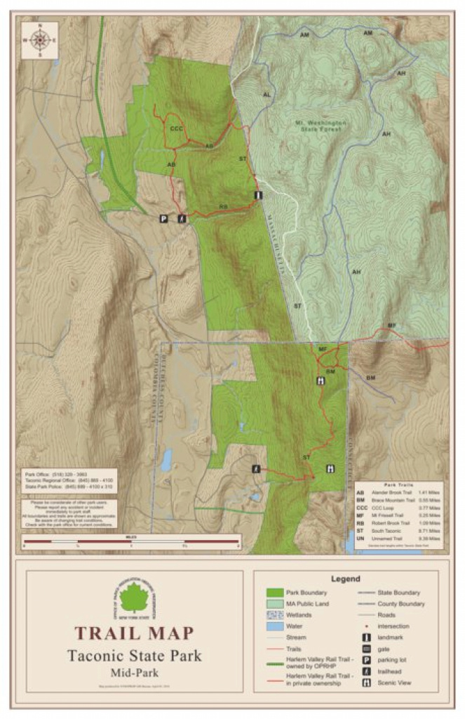 Taconic State Park Trail Map Middle - New York State Parks - Avenza Maps intended for Taconic State Park Trail Map