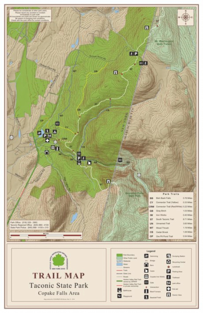 Taconic State Park Trail Map North - New York State Parks - Avenza Maps for Taconic State Park Trail Map