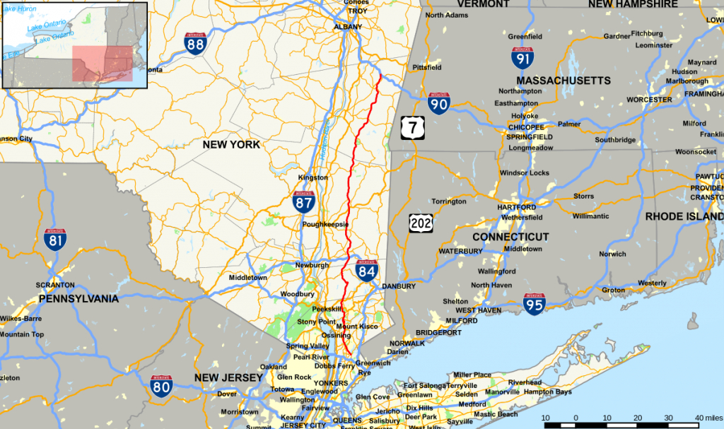Taconic State Parkway - Wikipedia in Map Of Tri State Area Ny Nj Ct