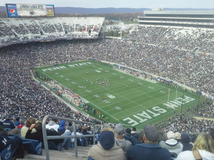 Penn State Football Parking Green Lot Map