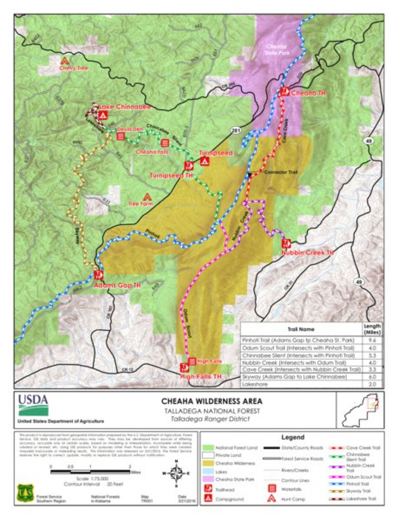 Talladega Cheaha Wilderness Area - Us Forest Service R8 - Avenza Maps regarding Cheaha State Park Trail Map