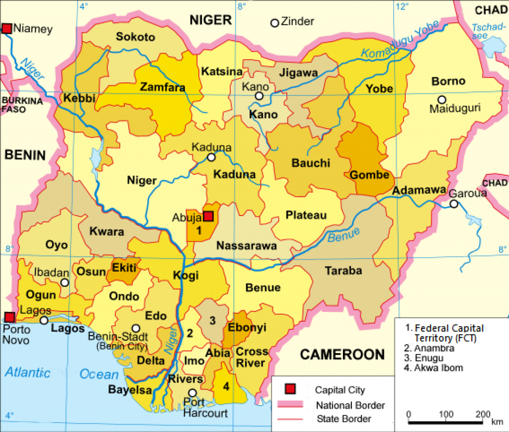 Template:nigeria States Map - Wikipedia pertaining to Map Of Nigeria With States