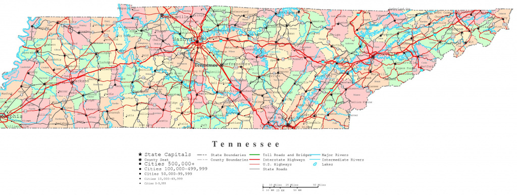 Tennessee Printable Map for Tennessee State Map With Counties