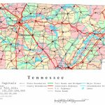 Tennessee Printable Map Inside State Map Of Tennessee Showing Cities