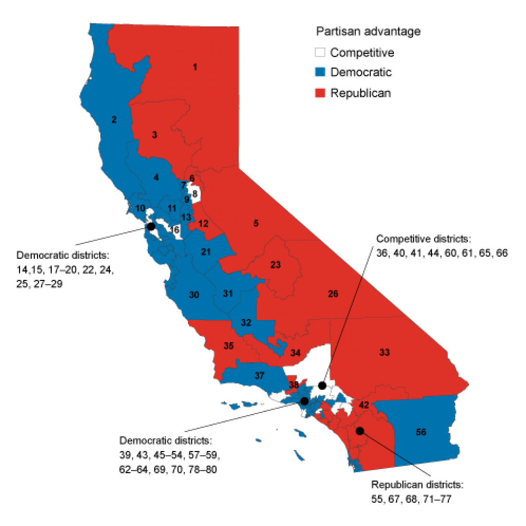 Test-Driving California's Election Reforms - Public Policy Institute intended for California State Assembly Map