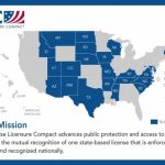 Texas Board Of Nursing   Nurse Licensure Compact Information With Compact State Nursing Map