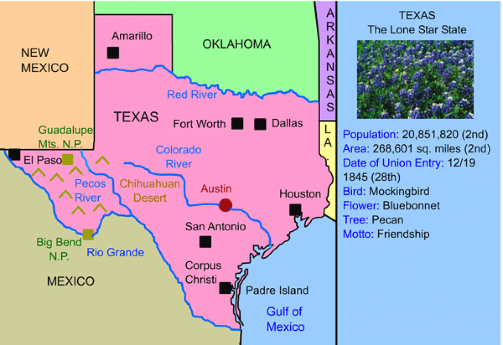 Texas For Kids: Maps | Activities | Facts | History « pertaining to Map Of Texas And Surrounding States
