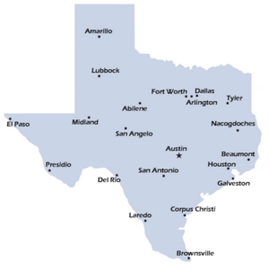 Texas Map Simple in Texas Map State Cities