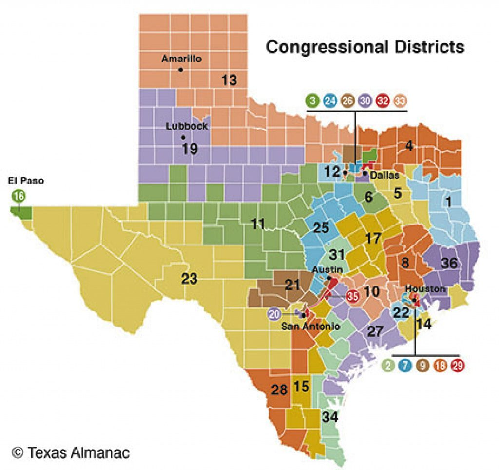 Texas Members Of Congress | Texas Almanac For Texas State House Of Representatives District Map
