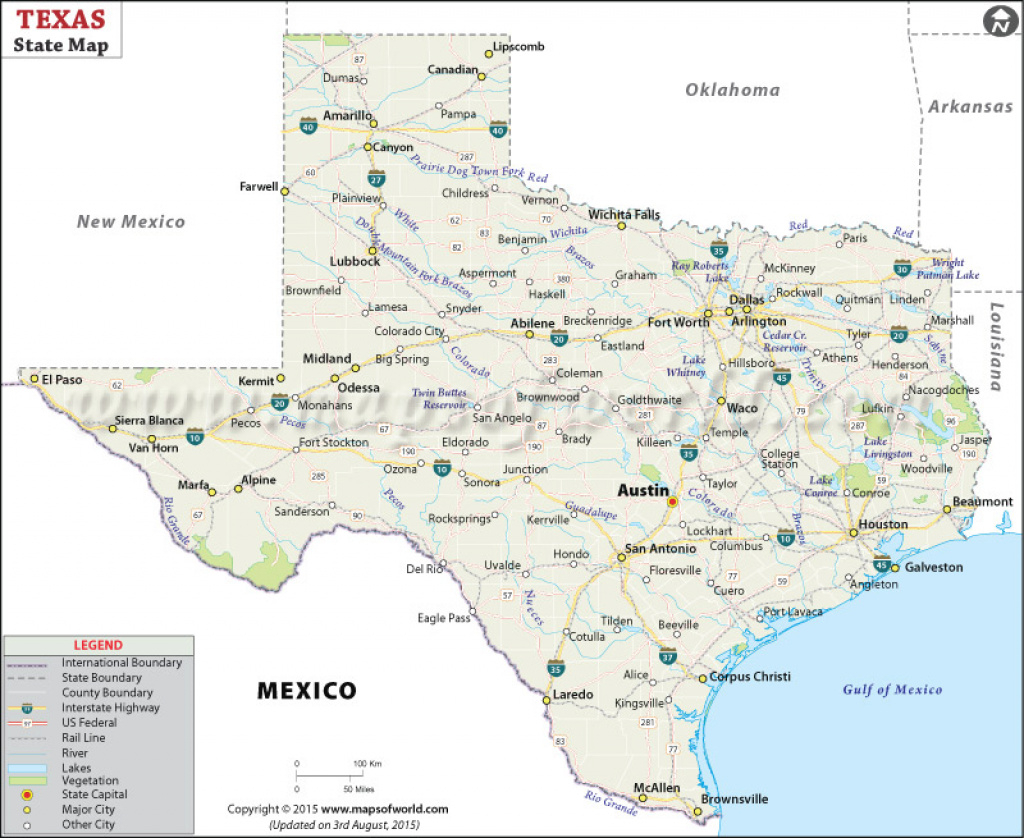 Texas State Map, Map Of Texas State throughout Texas Map State Cities
