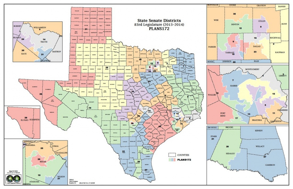 Texas State Senate Map - New Revolution Now intended for Texas State Senate District 24 Map
