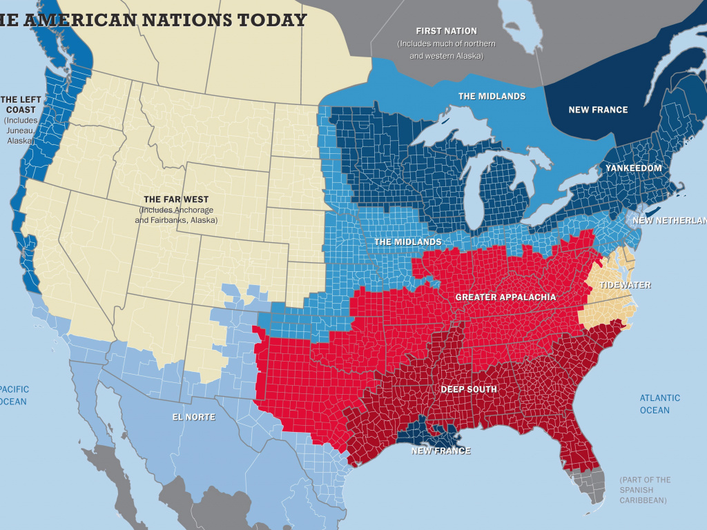 The 11 Nations Of The United States - Business Insider with What States I Ve Been To Map
