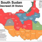 The 32 Federal States Of The Republic Of South Sudan | Paanluel Wël Pertaining To Map Of South Sudan States And Counties