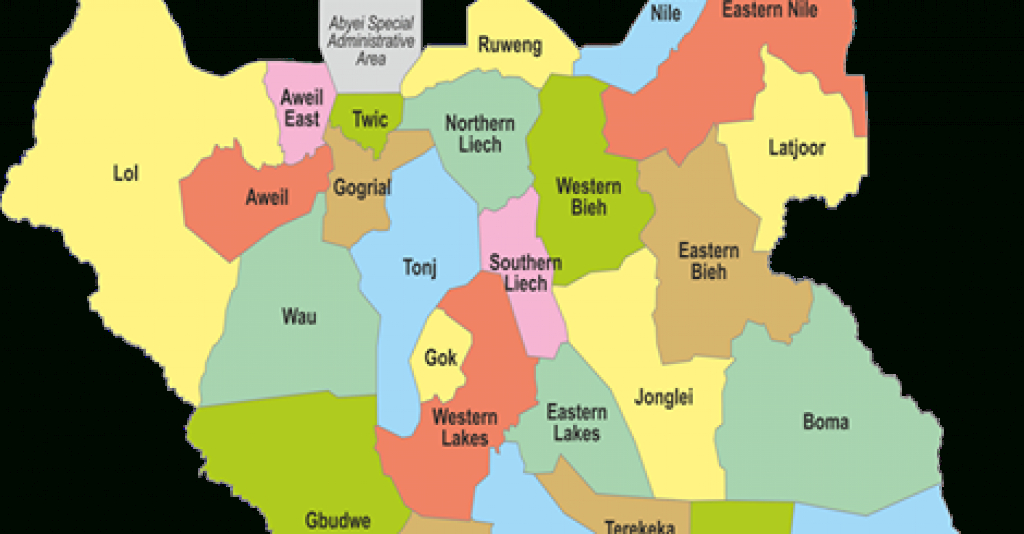 The 32 Federal States Of The Republic Of South Sudan | Paanluel Wël throughout Map Of South Sudan States And Counties