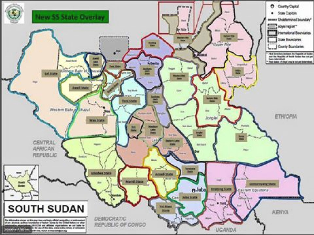 The 32 Federal States Of The Republic Of South Sudan | Paanluel Wël with regard to Map Of South Sudan States And Counties