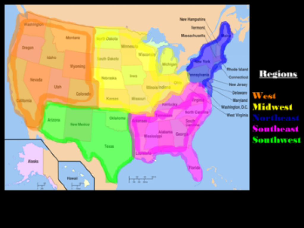 The 5 Regions Of The United States: Lesson For Kids - Video & Lesson intended for United States Map Divided Into 5 Regions