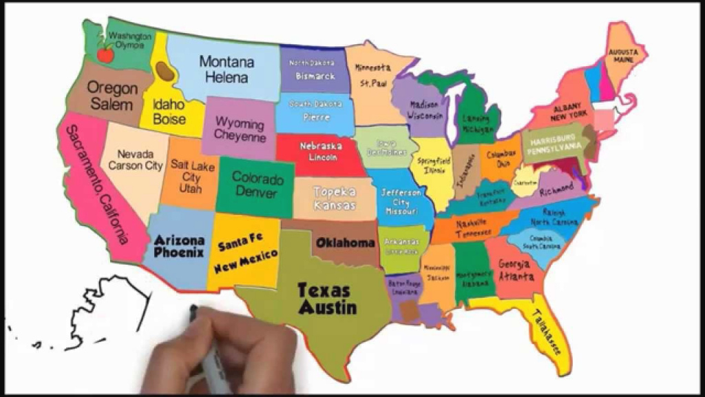 The 50 States And Capitals Song | Silly School Songs - Youtube pertaining to The 50 State Capitals Map
