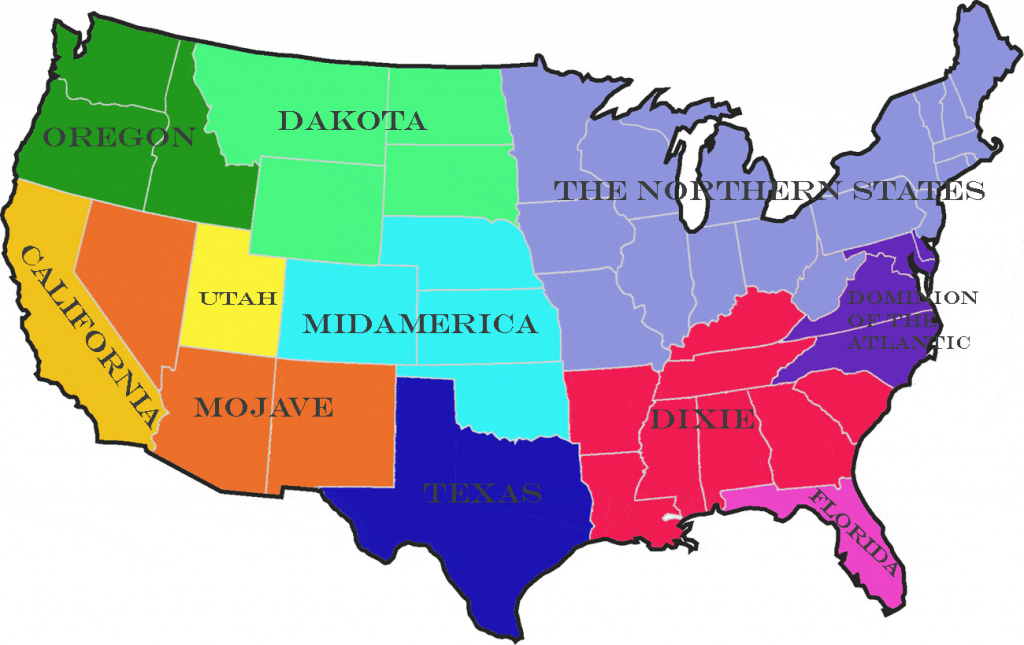 The Balkanized Usa – Rooktopia in Disunited States Of America Map