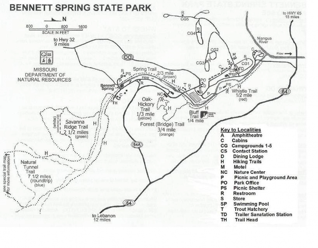 The Bennett Spring State Park Website pertaining to Montauk State Park Campground Map