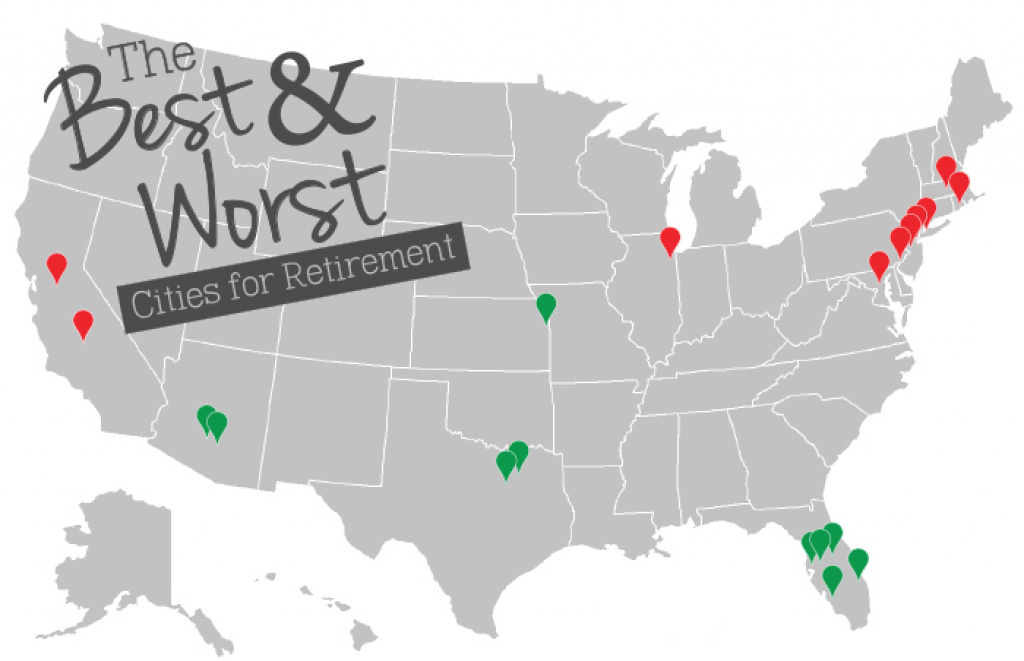 The Best And Worst Cities For Retirement - Mature Health Center for Retirement Friendly States Map