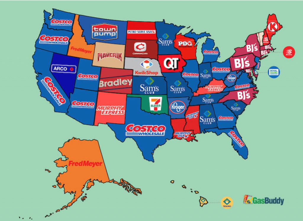 The Cheapest Gas Chains In Every U.s. State throughout Gas Prices Per State Map