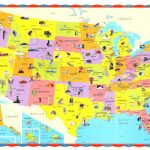 The Children's United States Us Usa Wall Map 32X50 Regarding United States Product Map