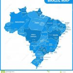 The Detailed Map Of The Brazil With Regions Or States And Cities Intended For Map Of Brazil States And Cities