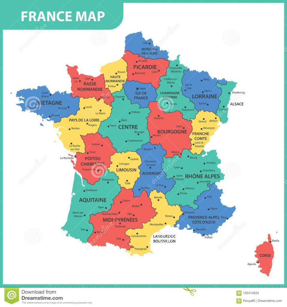 The Detailed Map Of The France With Regions Or States And Cities inside France States Map