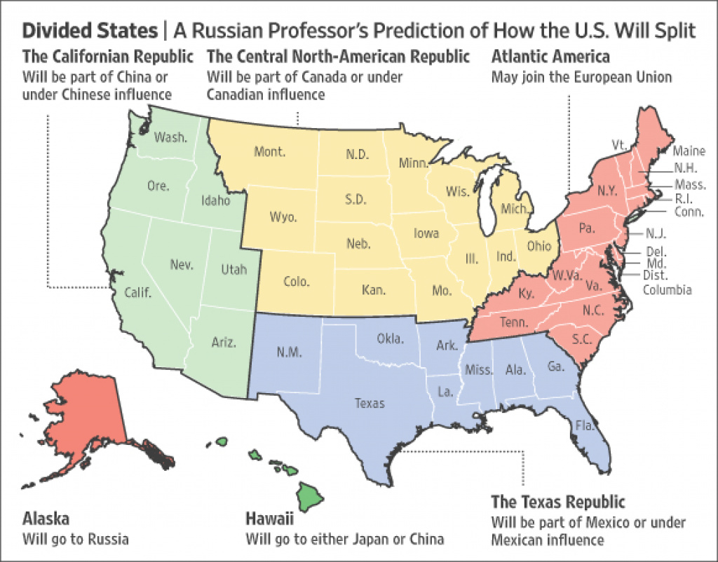 The Disunited States Of America | Daniel H. Pink within Disunited States Of America Map