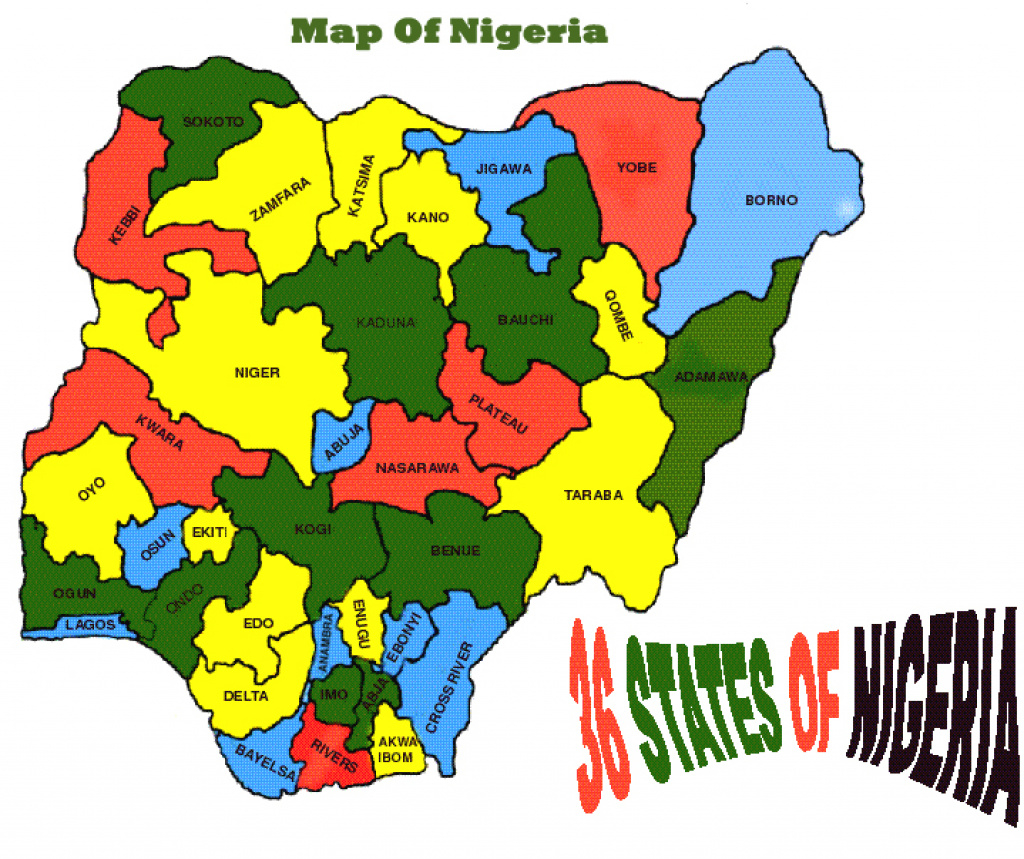 The Federal Republic Of Nigeria - Umunna Cultural Association Of regarding Map Of Nigeria With States