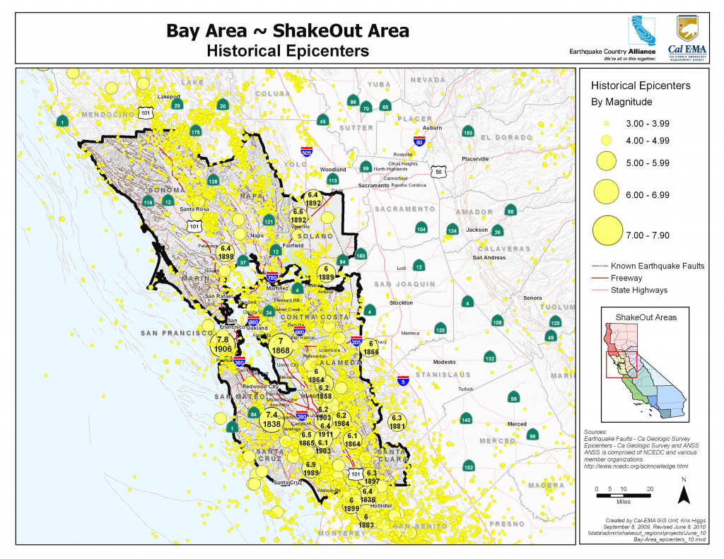 The Great California Shakeout - Bay Area for Usgs Earthquake Map Washington State