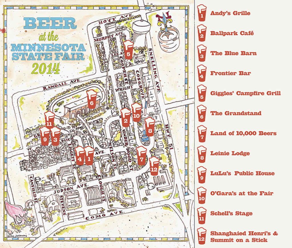 The Growler's Guide To Craft Beer At The Minnesota State Fair 2014 in Mn State Fair Food Map