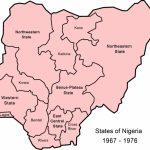 The History Of Nigerian States And How They Were Created   Local Inside Map Of Nigeria With States
