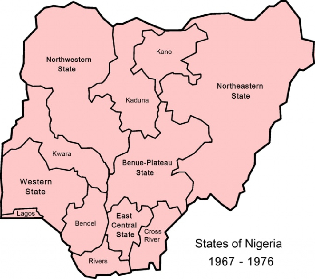 The History Of Nigerian States And How They Were Created - Local inside Map Of Nigeria With States