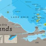 The Lake Erie Islands Map On Behance Inside Map Lake Erie Surrounding States