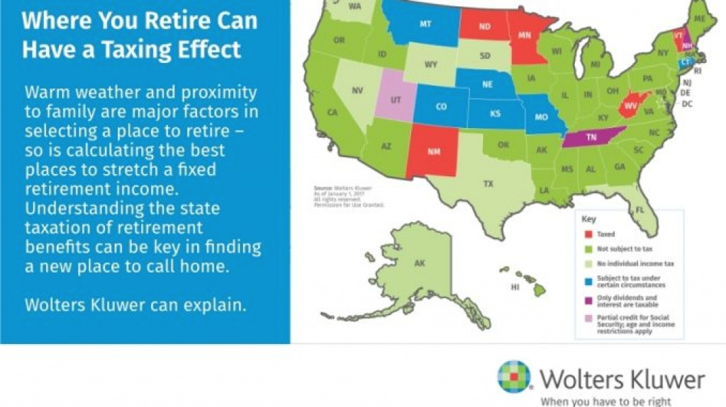 The Most Tax Friendly States To Retire – Usa Daily Chronicles intended for Retirement Friendly States Map