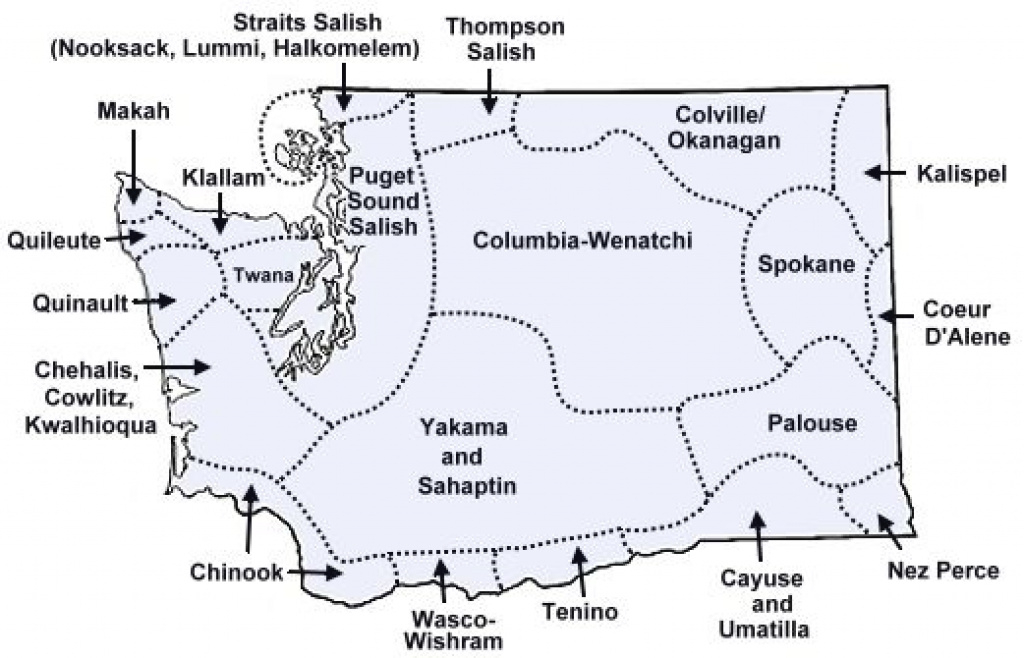 The Native American Tribes Of Washington State | Genealogy throughout Washington State Tribes Map