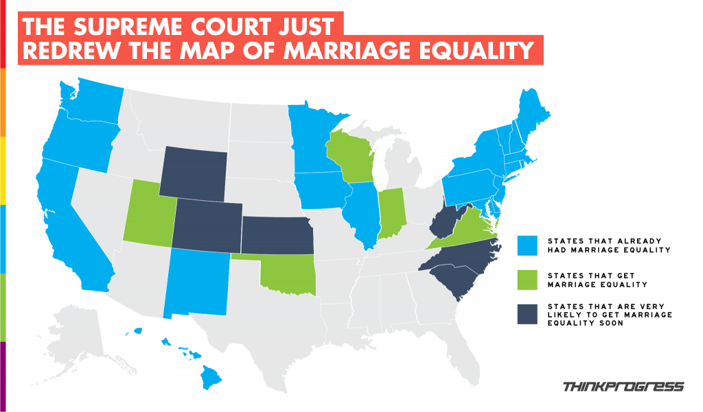 The New Marriage Equality Maps - 60% Of Us To Have Marriage Equality for Gay Marriage By State Map 2014