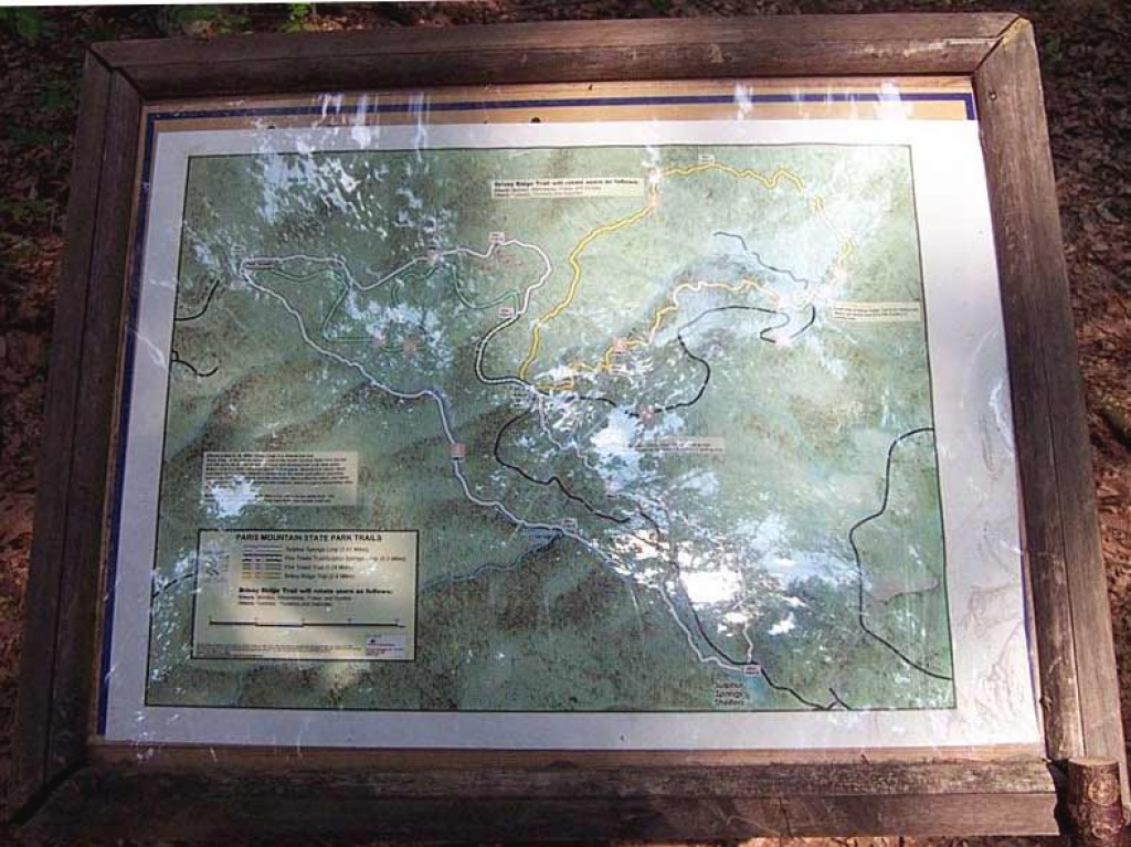 The Online Guide throughout Paris Mountain State Park Trail Map