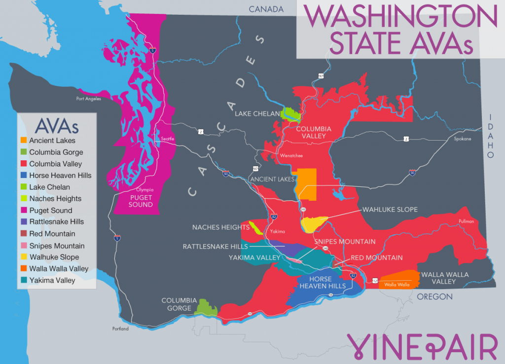 The Only Introduction You Need To Wine From Washington State | Vinepair intended for Washington State Wineries Map