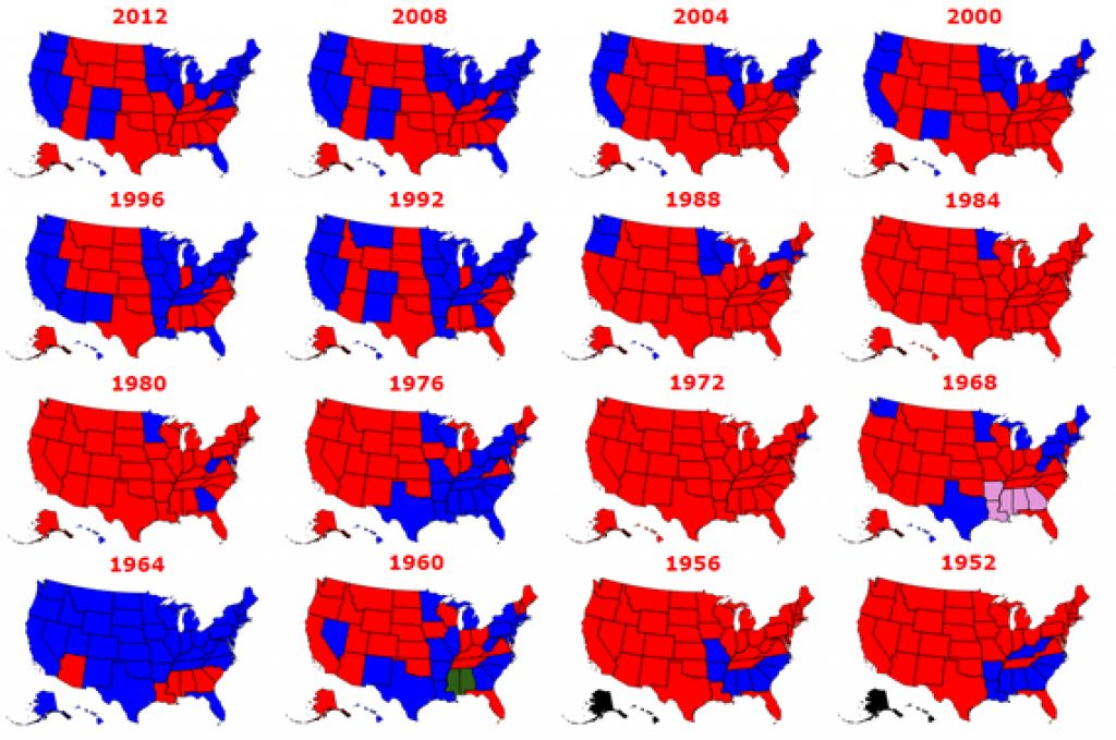 The Results Of Every Presidential Election In History | Huffpost Intended For Red States Map 2015