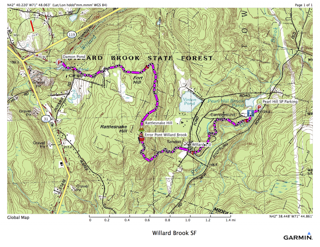 The Road Not Taken: Willard Brook State Forest: Friend's Trail for Townsend State Forest Trail Map