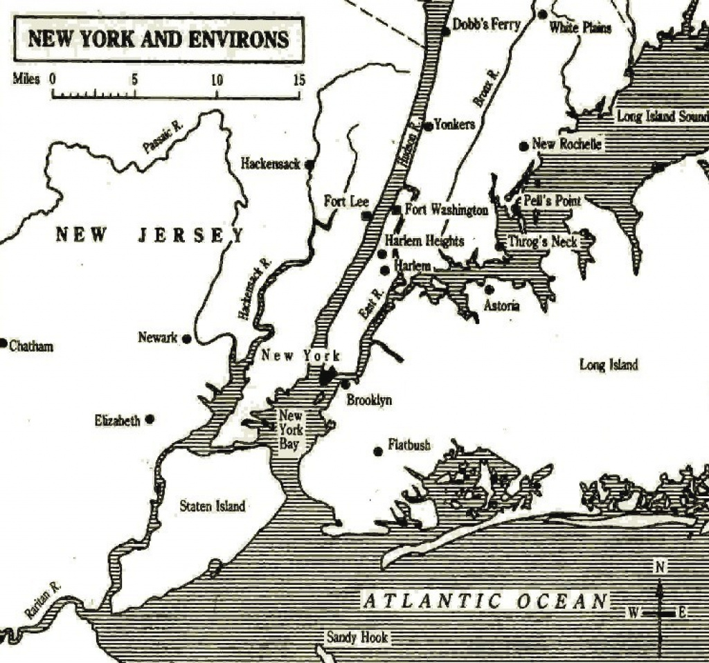 The Role Of New York intended for New York State Revolutionary War Map